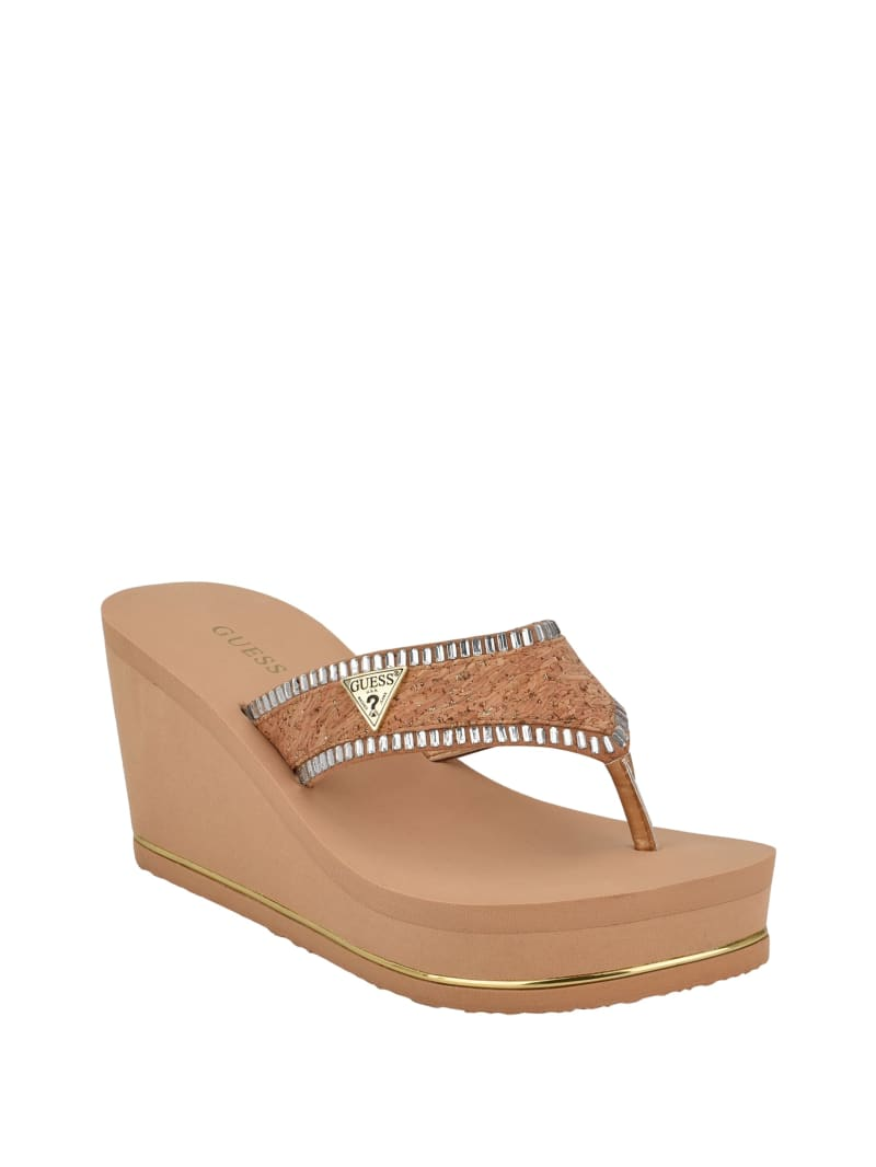 Sarry Cork Thong Wedges