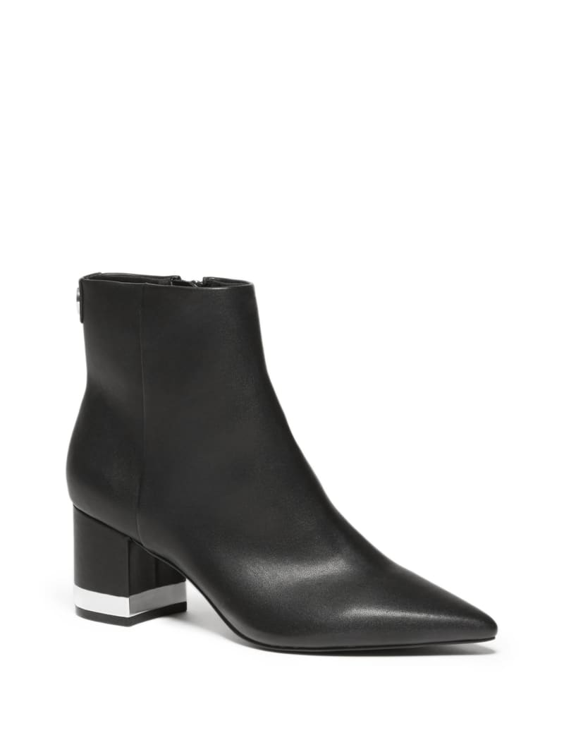 Pointed-Toe Faux-Leather Chelsea Boots