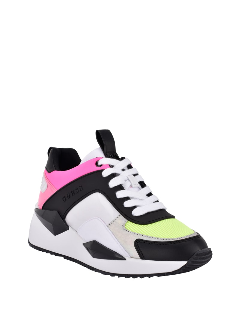 Typical Neon Chunky Wedge Sneakers