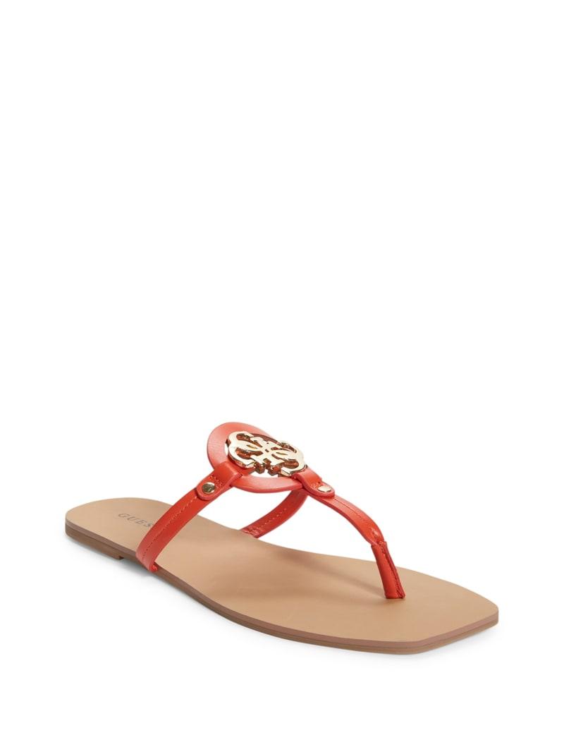 Zali Logo T-Strap Sandals