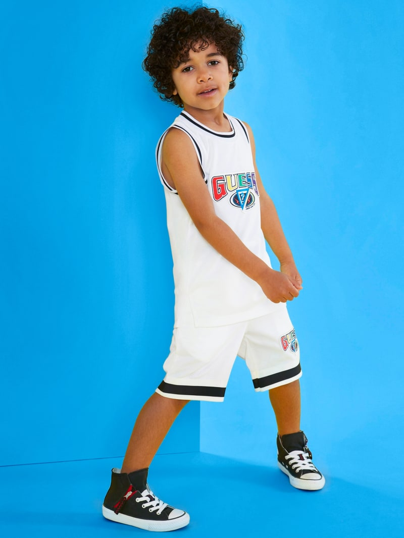 GUESS X J Balvin Kids Basketball Logo Shorts (4-14)
