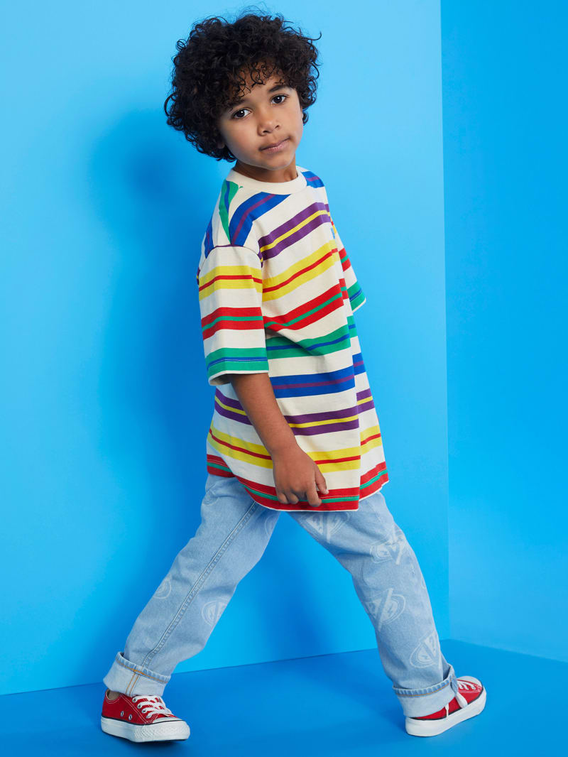GUESS X J Balvin Kids Horizontal Stripes Tee (4-14)