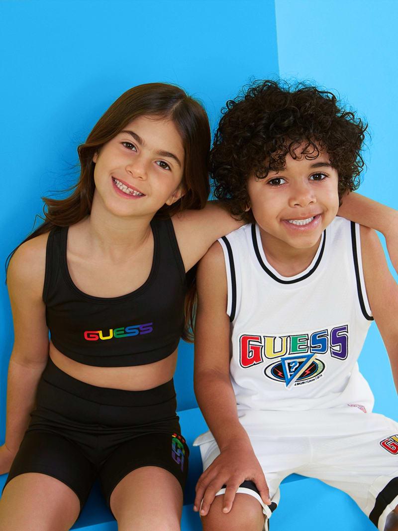 GUESS X J Balvin Kids Basketball Logo Jersey (4-14)