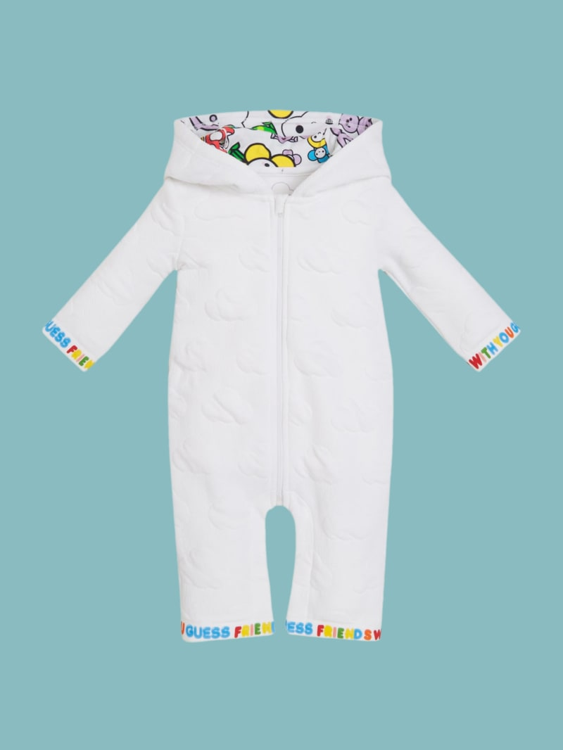 GUESS x FriendsWithYou Hooded Romper (3-12m)