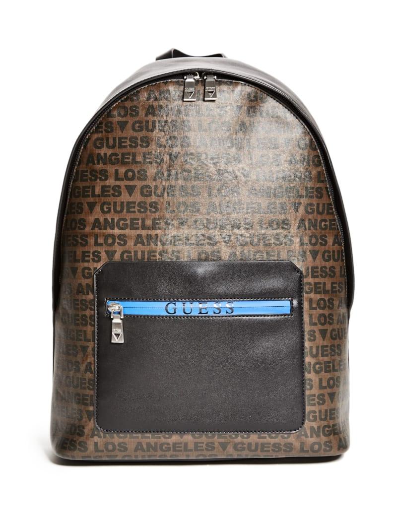 Dan La Logo Printed Backpack