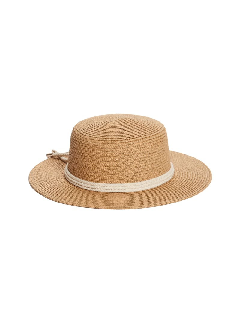 Straw Boater Hat with Rope
