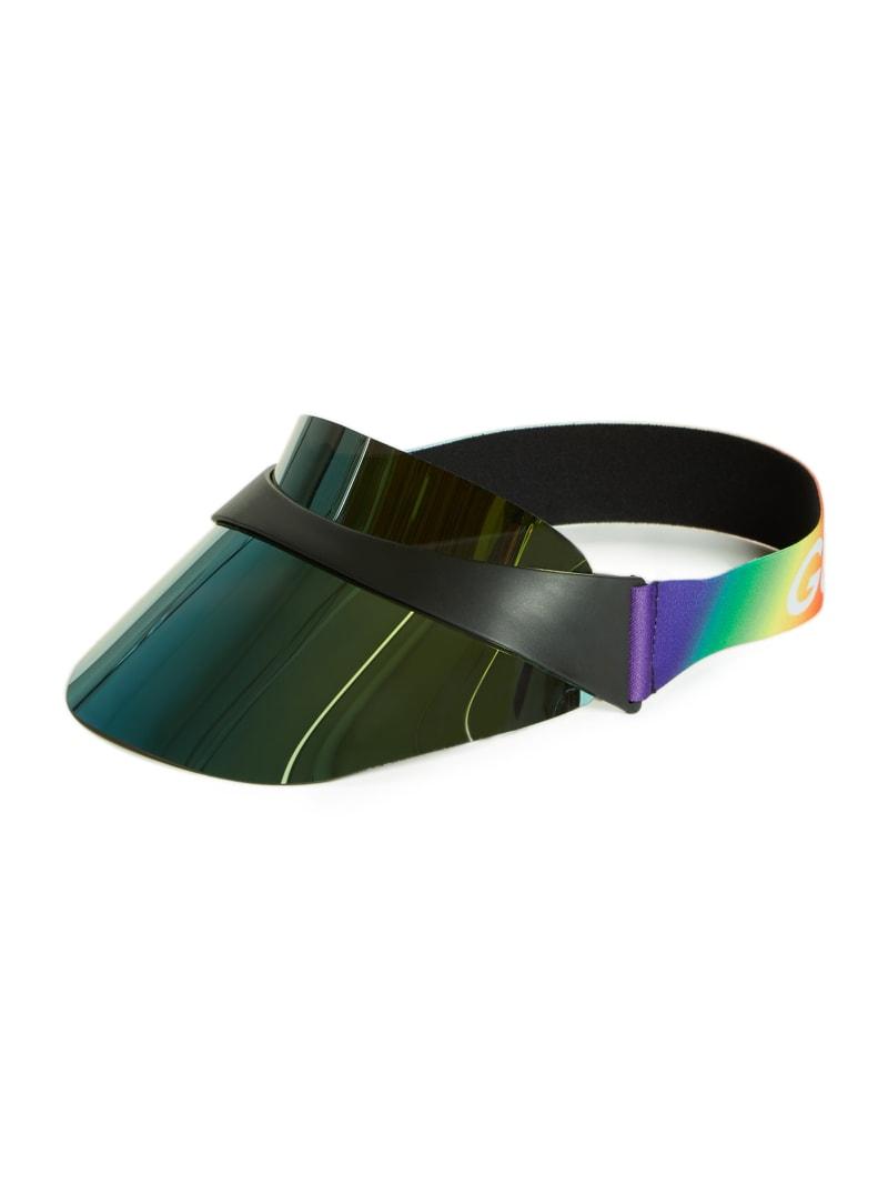 Reflective Rainbow Logo Visor