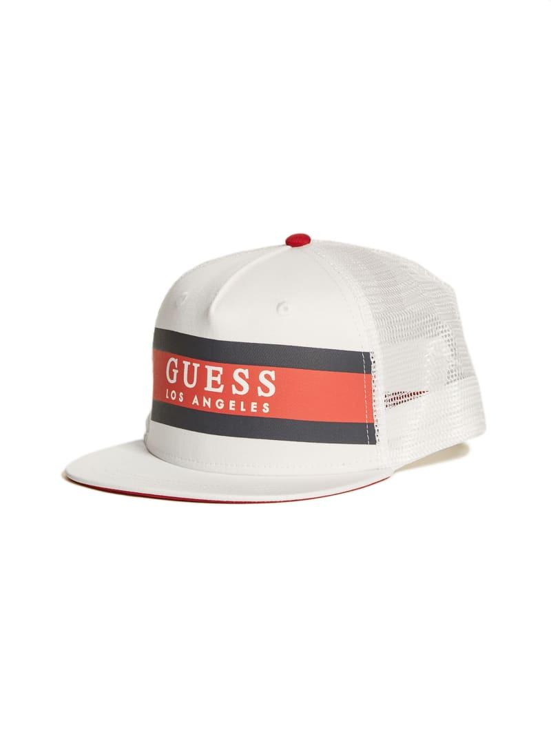 Color-Blocked Logo Trucker Hat