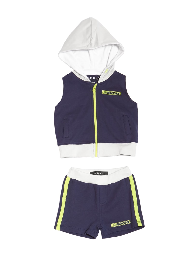 Worldwide Active Zip-Up Top and Shorts Set (0-24M)
