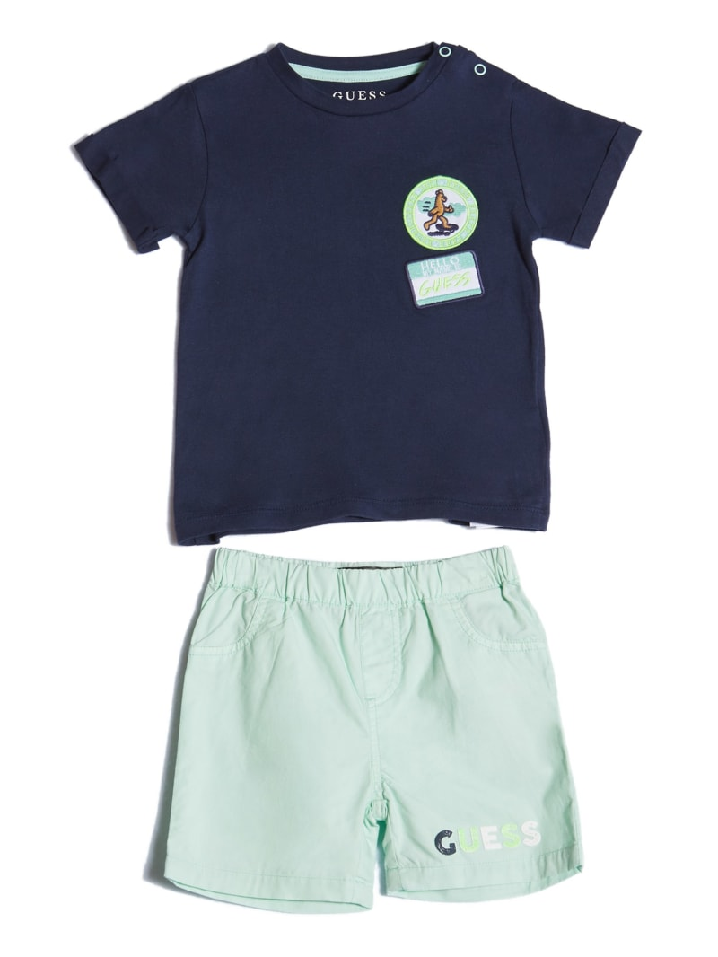 Short-Sleeve Tee And Shorts Set (0-24M)