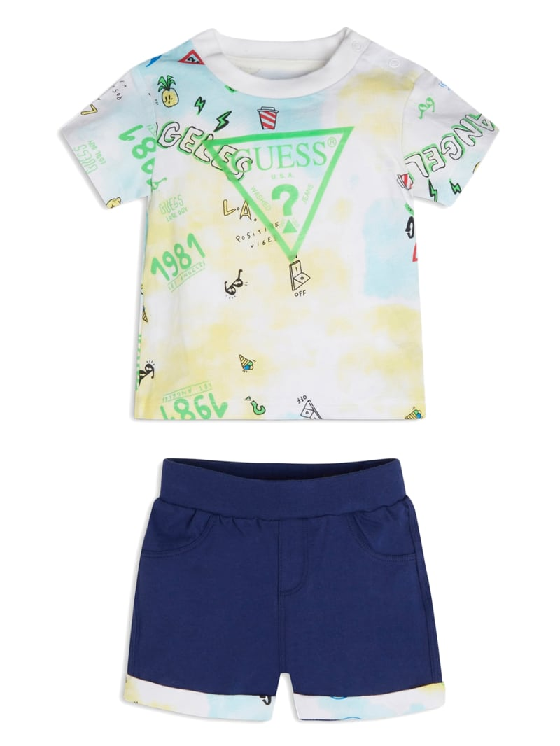 Logo Tee and Jersey Shorts Set (0-24M)