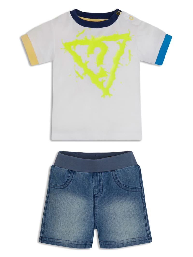 Logo Shirt and Denim Shorts Set (0-12M)