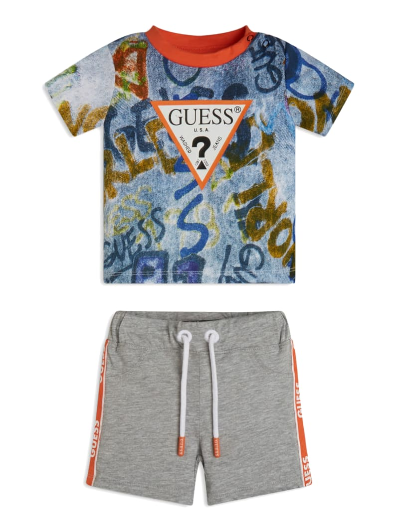 Graffiti Logo Shirt and Shorts Set (3-12M)