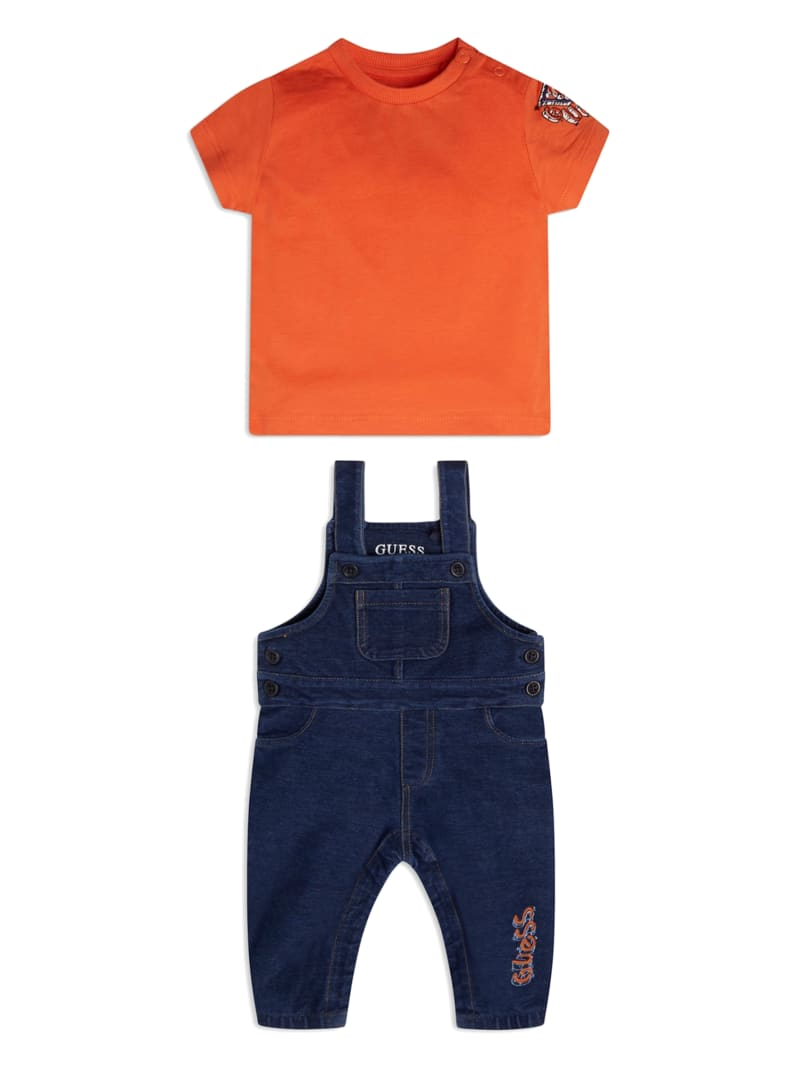Embroidered Logo Overalls Set (3-12M)