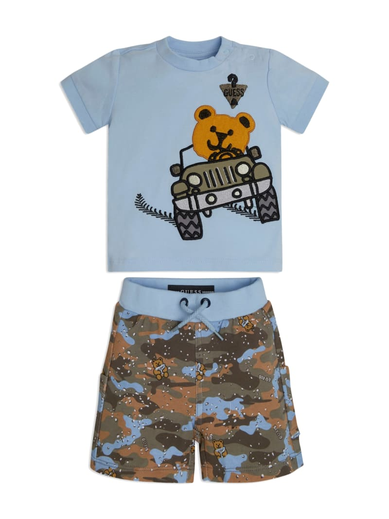 Camo Bear Tee and Shorts Set (3-12M)