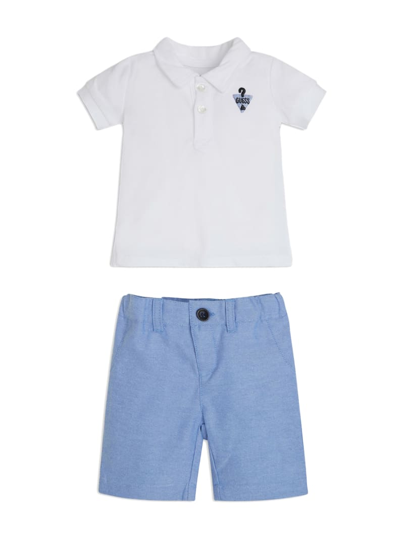 Logo Polo and Pants Set (3-12M)