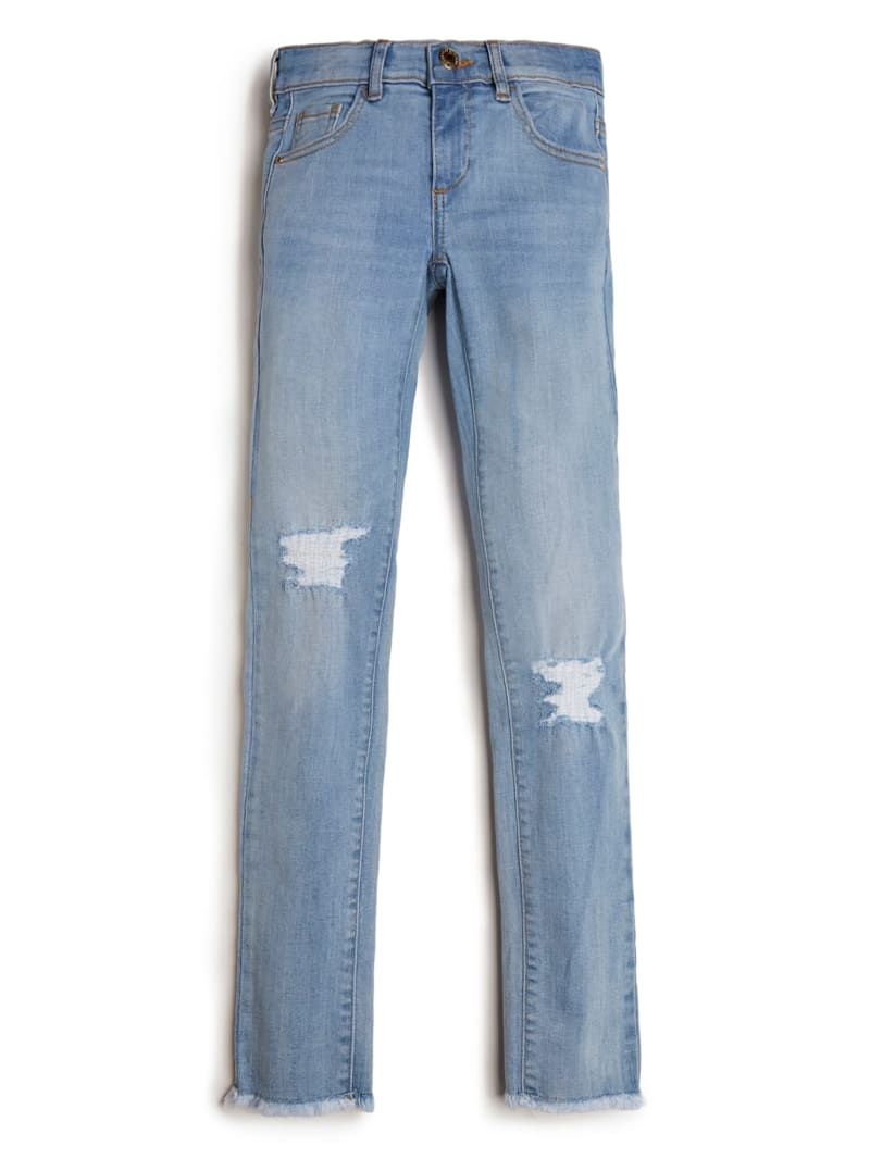 Distressed Denim Skinny Jeans (7-14)