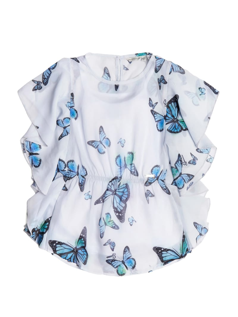 Butterfly Ruffled Sleeves Shirt (7-14)