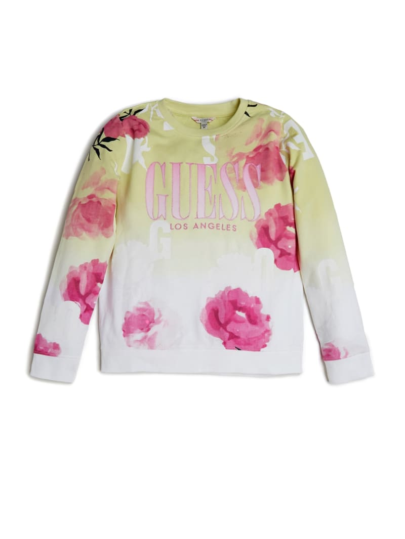 Floral Logo Long-Sleeve Sweatshirt (7-14)