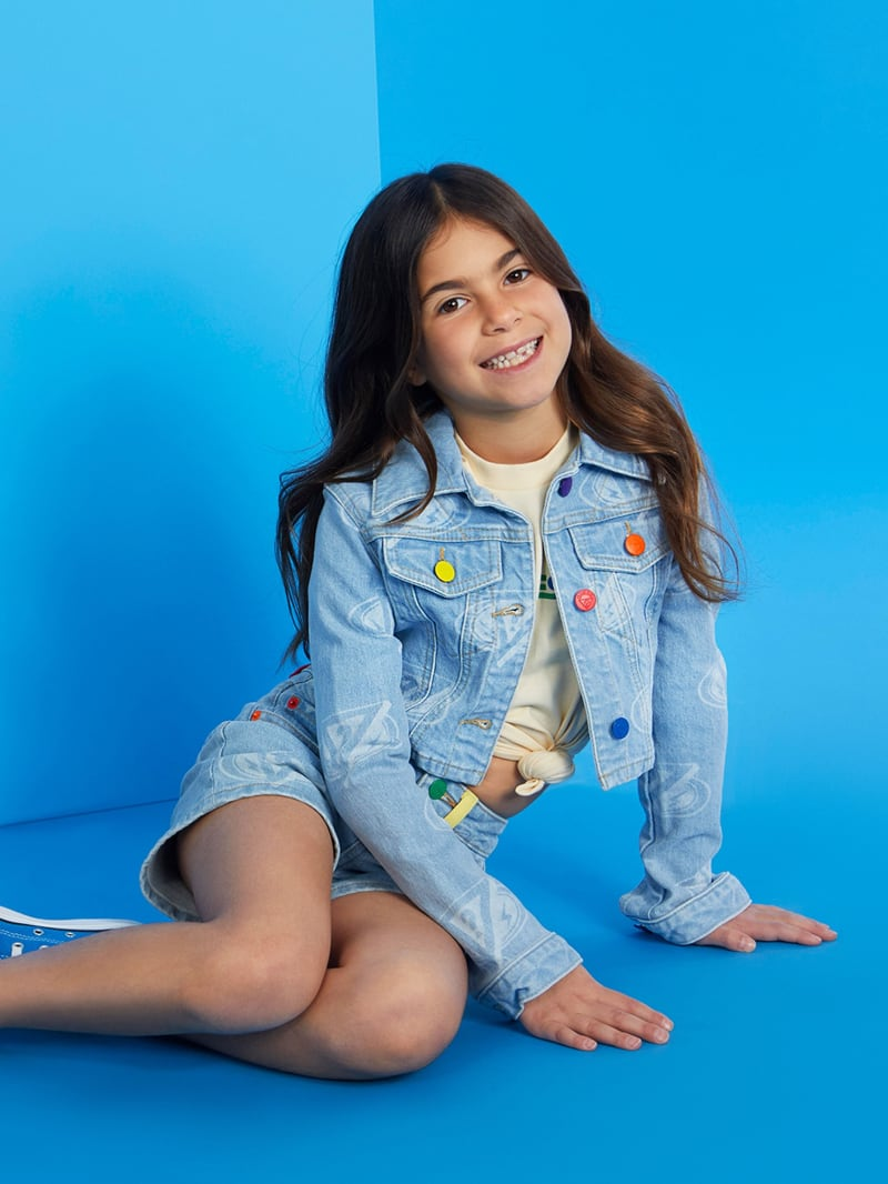 GUESS x J Balvin Kids Cropped Denim Jacket (4-14)