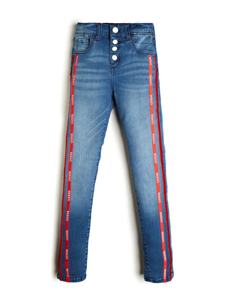 Logo Tape High-Rise Skinny Jeans (7-14)