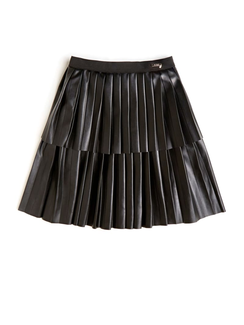 Faux-Leather Tiered Skirt (7-14)