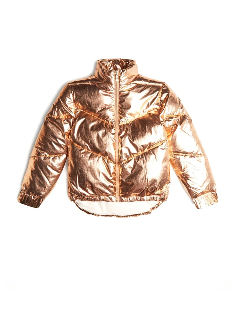 High-Low Puffer Jacket  (7-14)