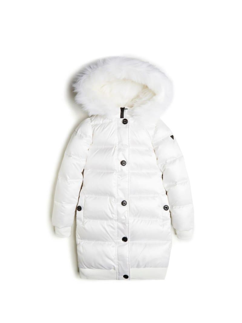 Faux-Fur Longline Puffer Jacket  (7-14)