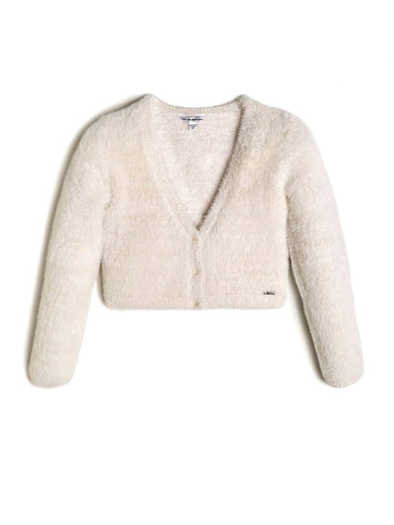 Cropped Fuzzy Cardigan (7-14)