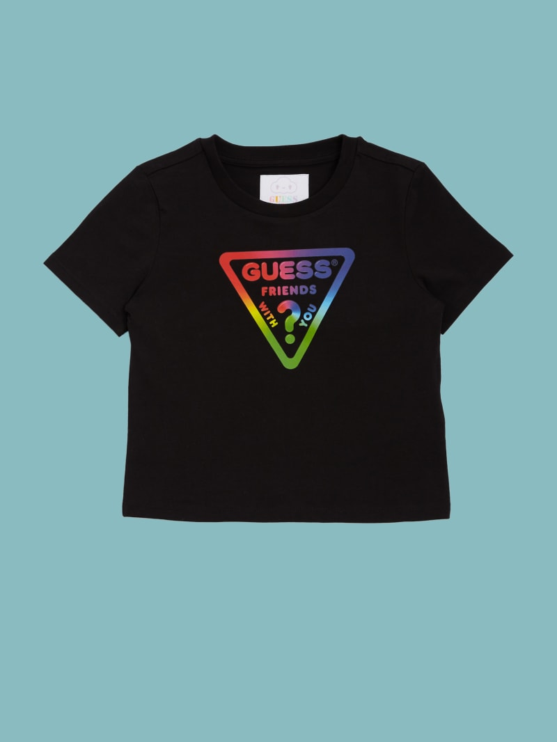 GUESS x FriendsWithYou Rainbow Logo Tee (4-14)