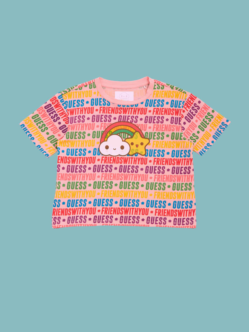 GUESS x FriendsWithYou Logo Print Tee (4-14)