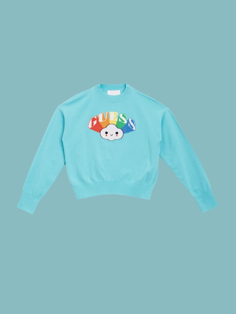GUESS x FriendsWithYou Block Logo Sweater (4-14)
