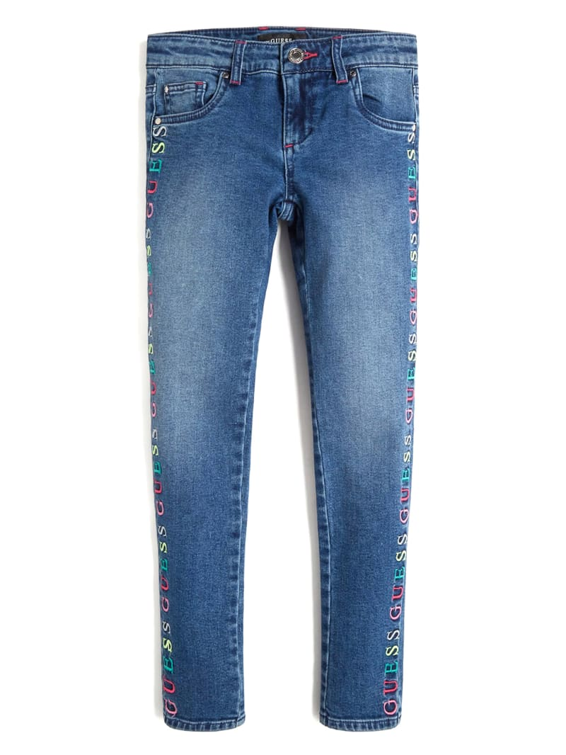 Embroidered Logo Skinny Jeans (7-14)