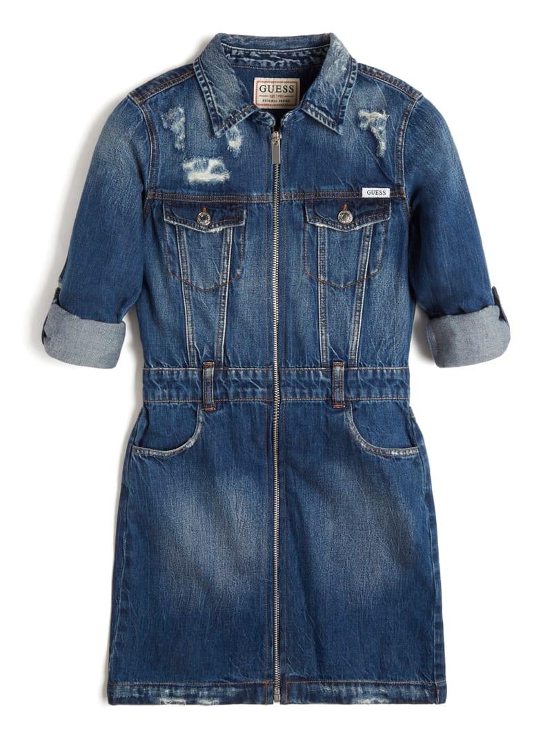 Denim Zip-Up Dress (7-14)