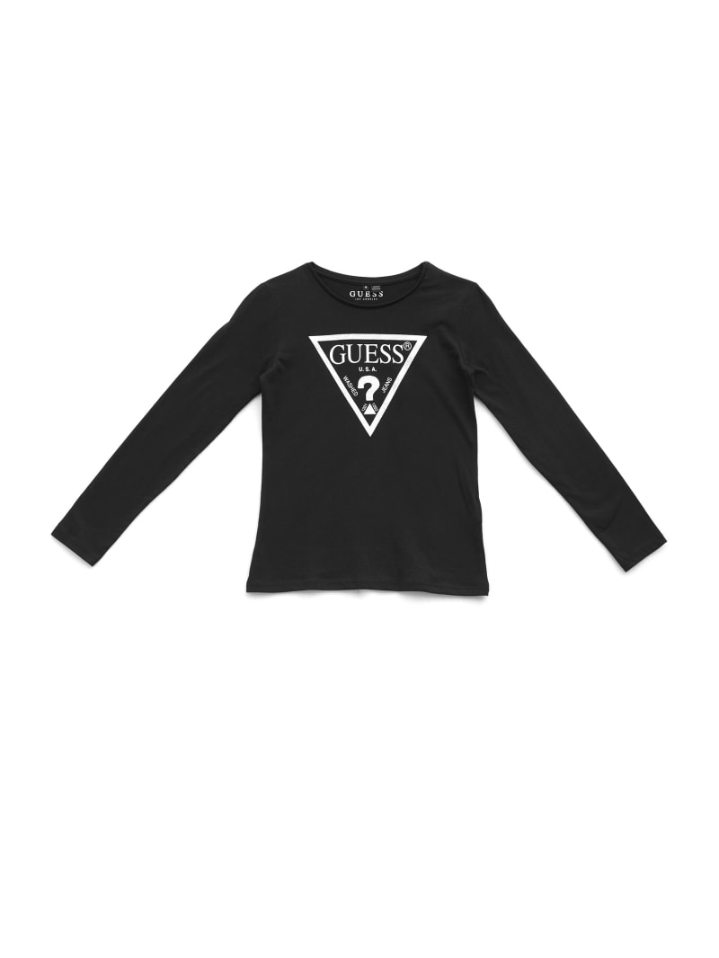 GUESS Kids Long-Sleeve Triangle Logo Tee (7-14)