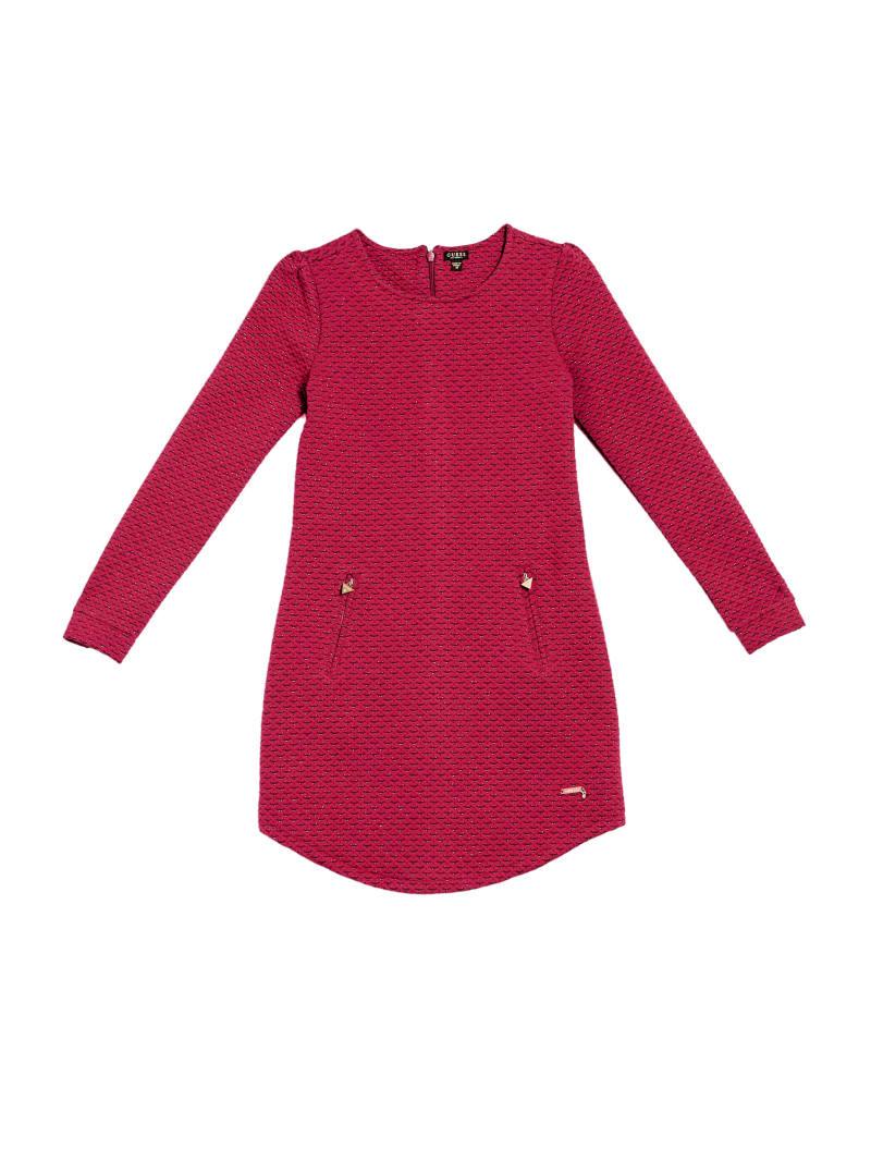 Lurex Jacquard Long Sleeve Dress (7-14)