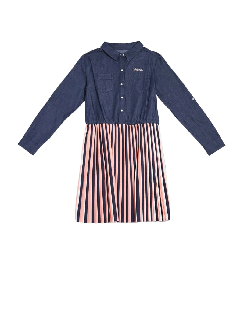 Striped Two-Fer Dress (7-14)