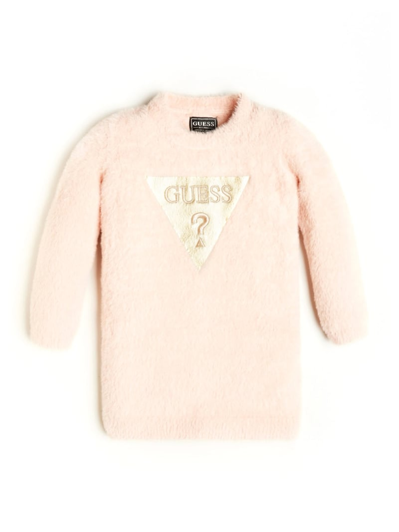 Fuzzy Logo Long-Sleeve Dress (2-7)