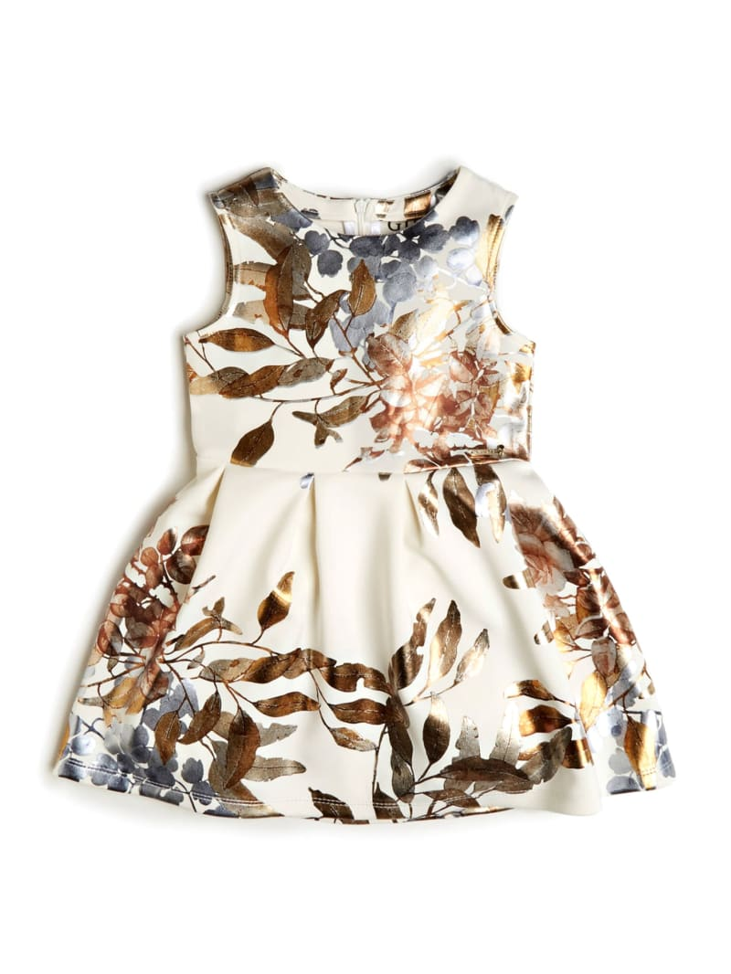 Printed Sleeveless Scuba Dress (2-7)