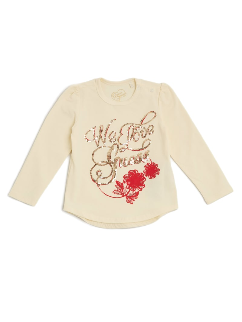 Love GUESS Sequin Pullover (0-24M)