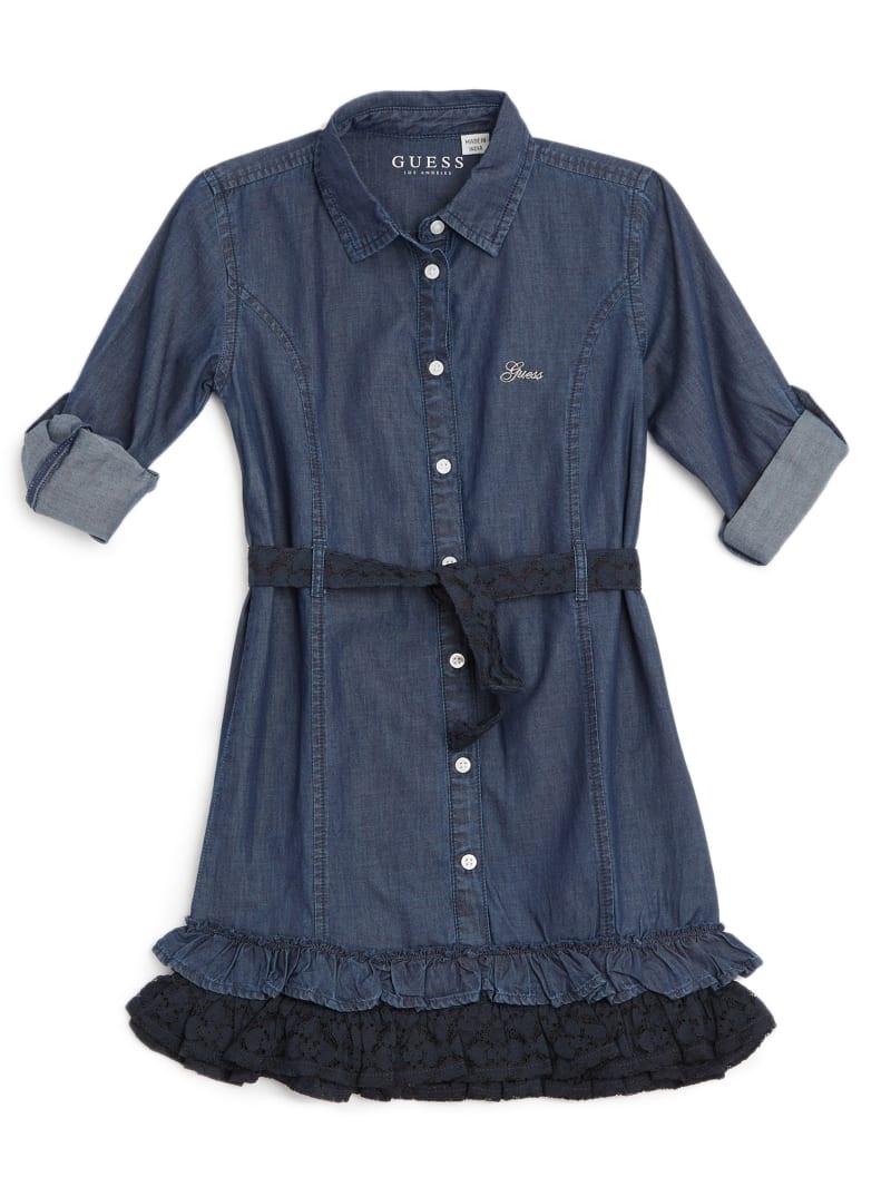 Tiered Denim Shirtdress (2-7)