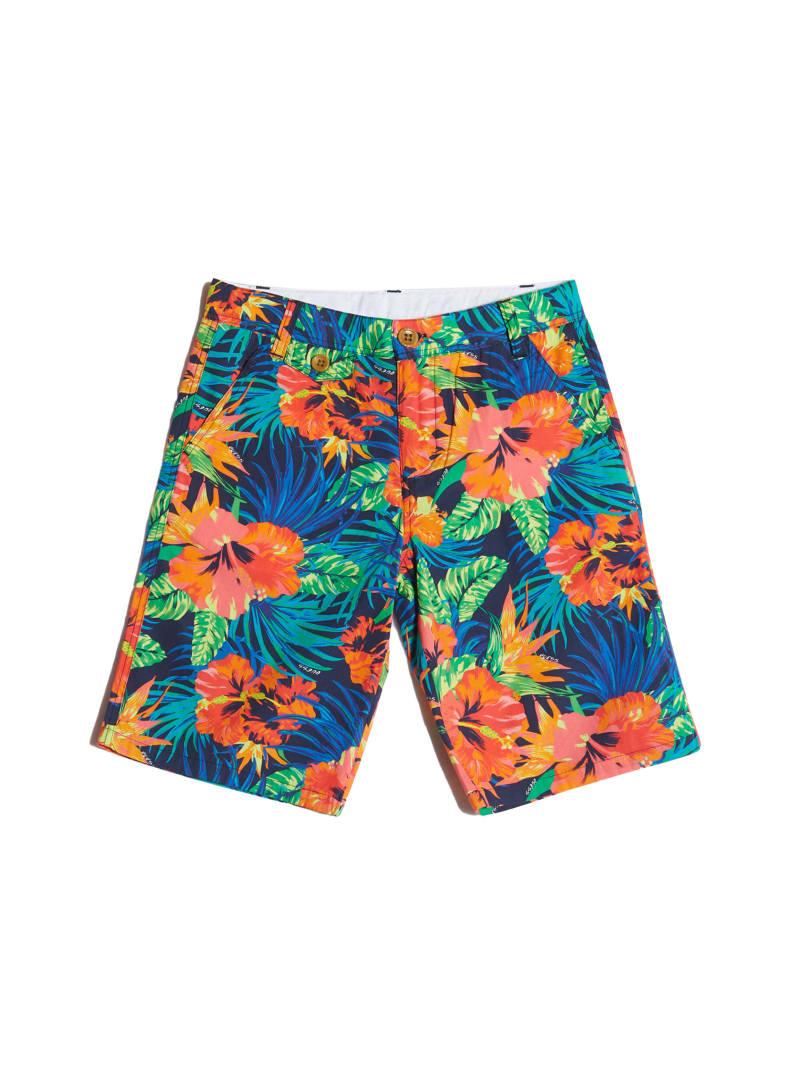 Printed Palm Leaf Bermuda Shorts (7-14)