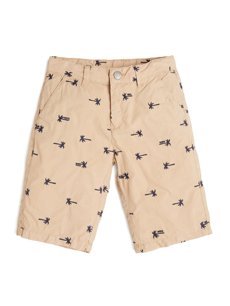 Poplin Palm Embroidered Shorts (7-12)
