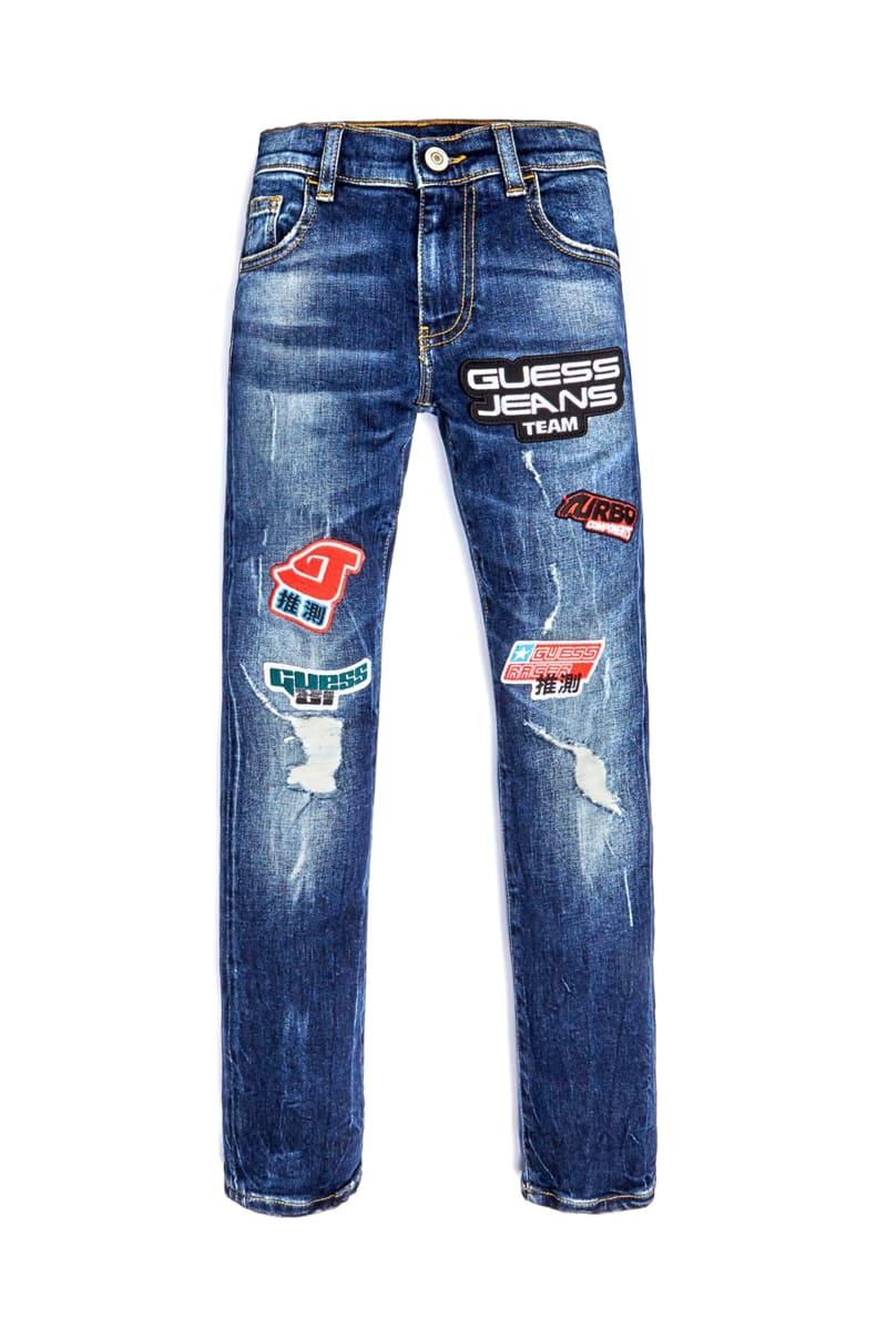 Patch Distressed Skinny Jeans (7-14)