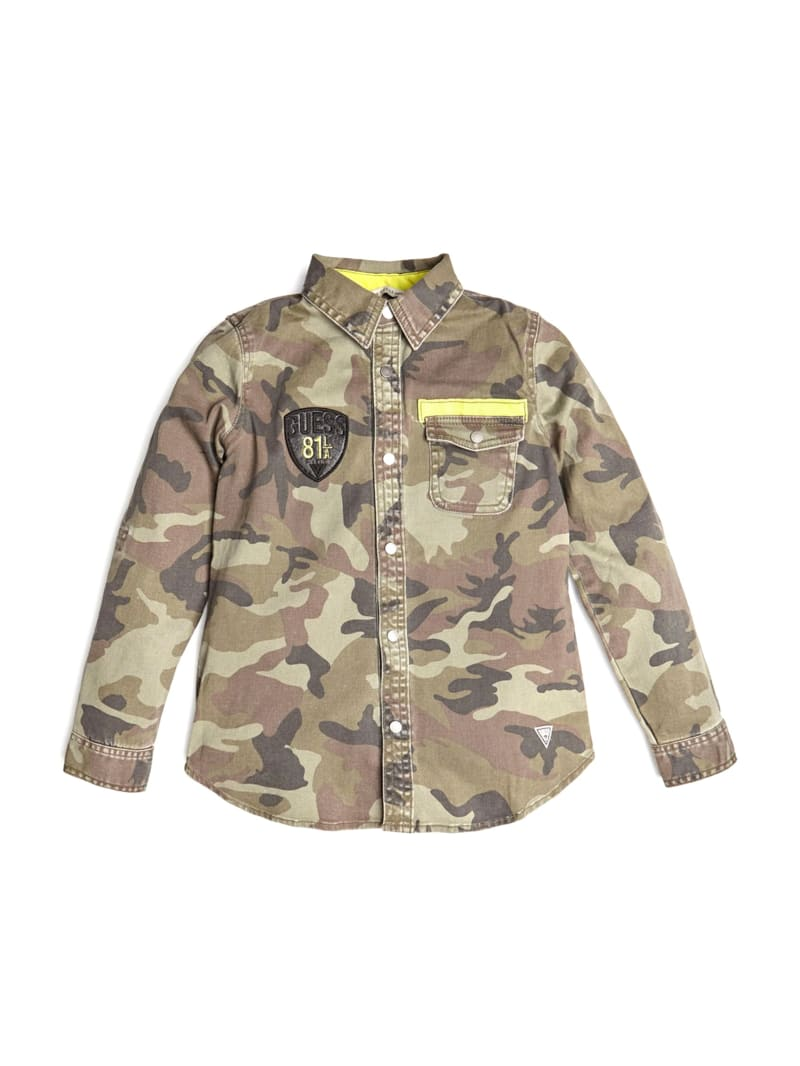 Patch Camo-Print Shirt (7-14)