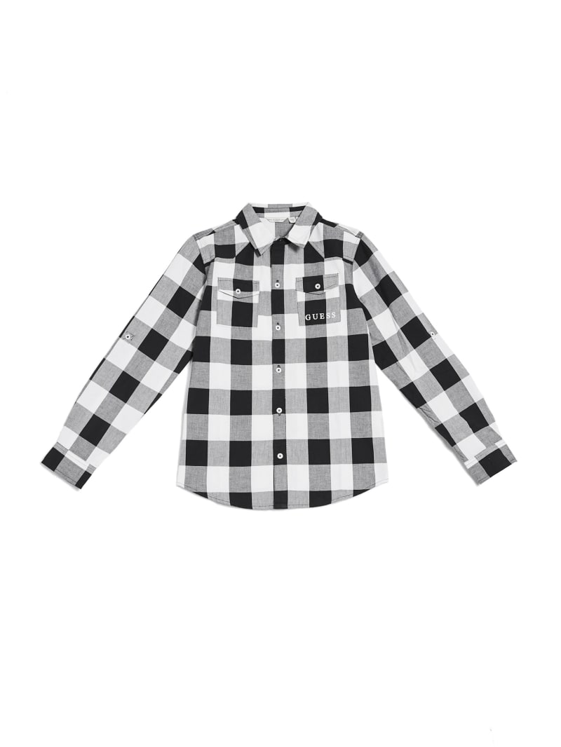 Gingham Button-Up Shirt (7-14)