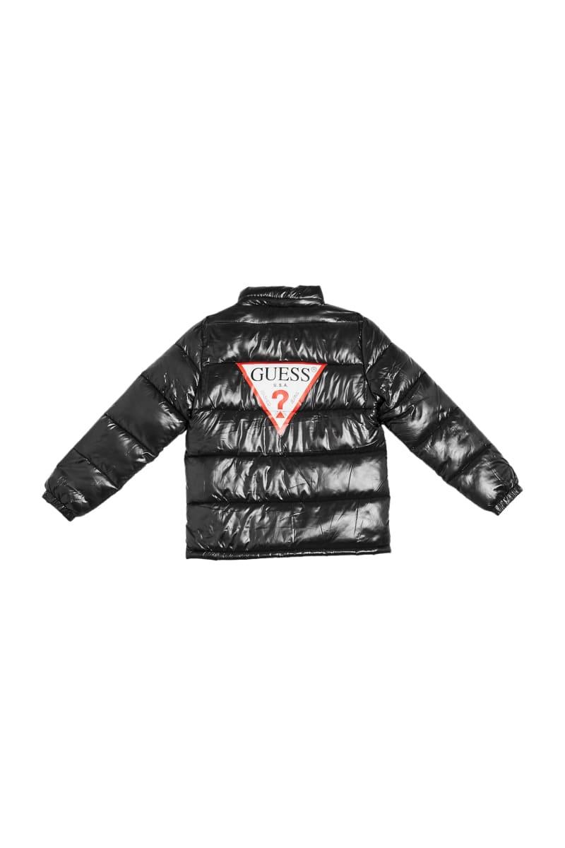 Shiny Logo Puffer Jacket (7-14)