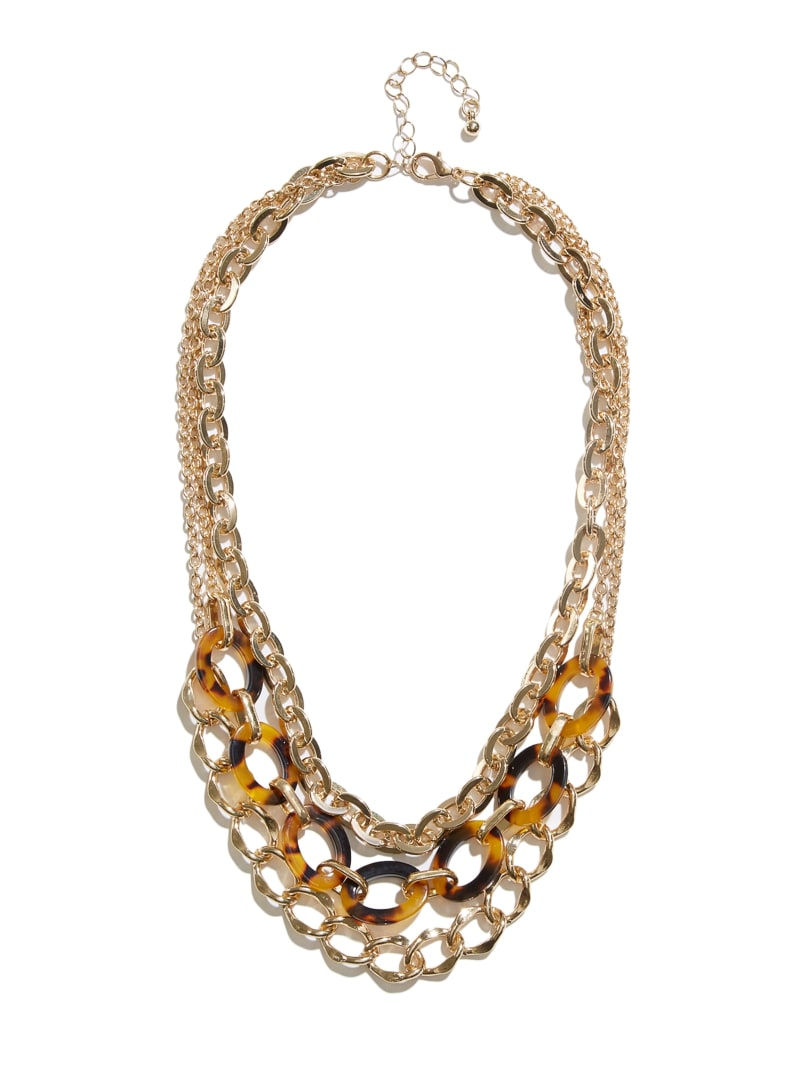 Tortoise Layered Chain Necklace