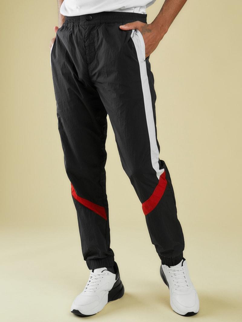 Sporty Technical Nylon Track Pants