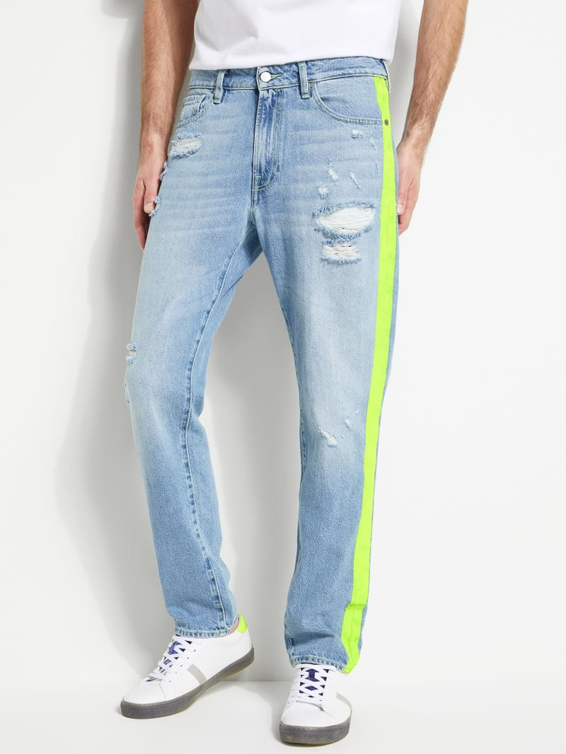 GUESS Eco Drake Neon Contrast Jeans